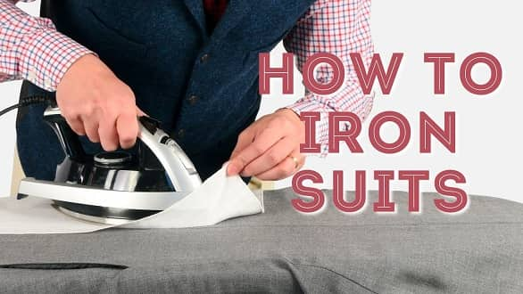 how to iron blazer suits